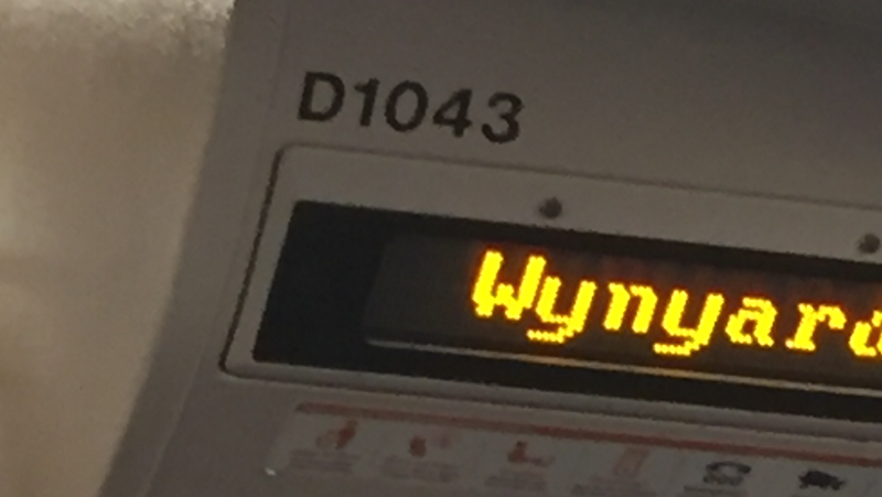 A Train Carriage Number
